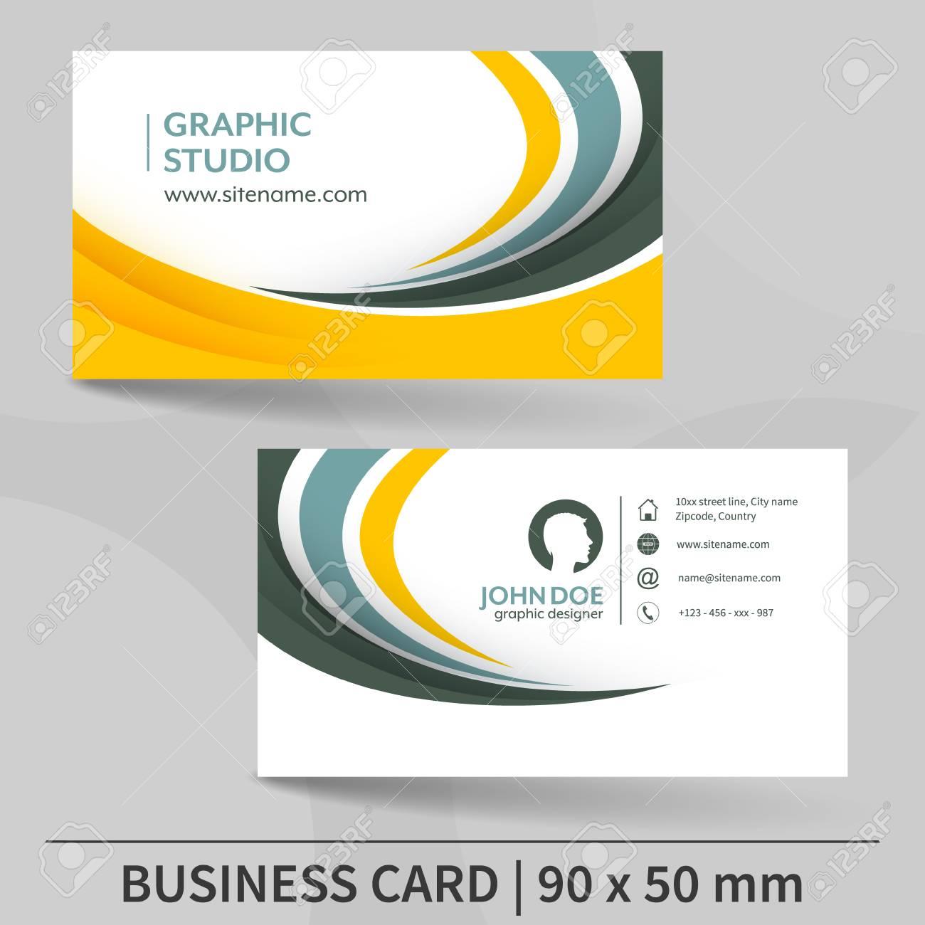 modele de carte de visite conception pour votre presentation individuelle ou commerciale convient pour l impression illustration vectorielle