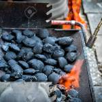 Firing Up Charcoal Briquettes For The Bbq Grill Starting A Grill Stock Photo Picture And Royalty Free Image Image 70255878