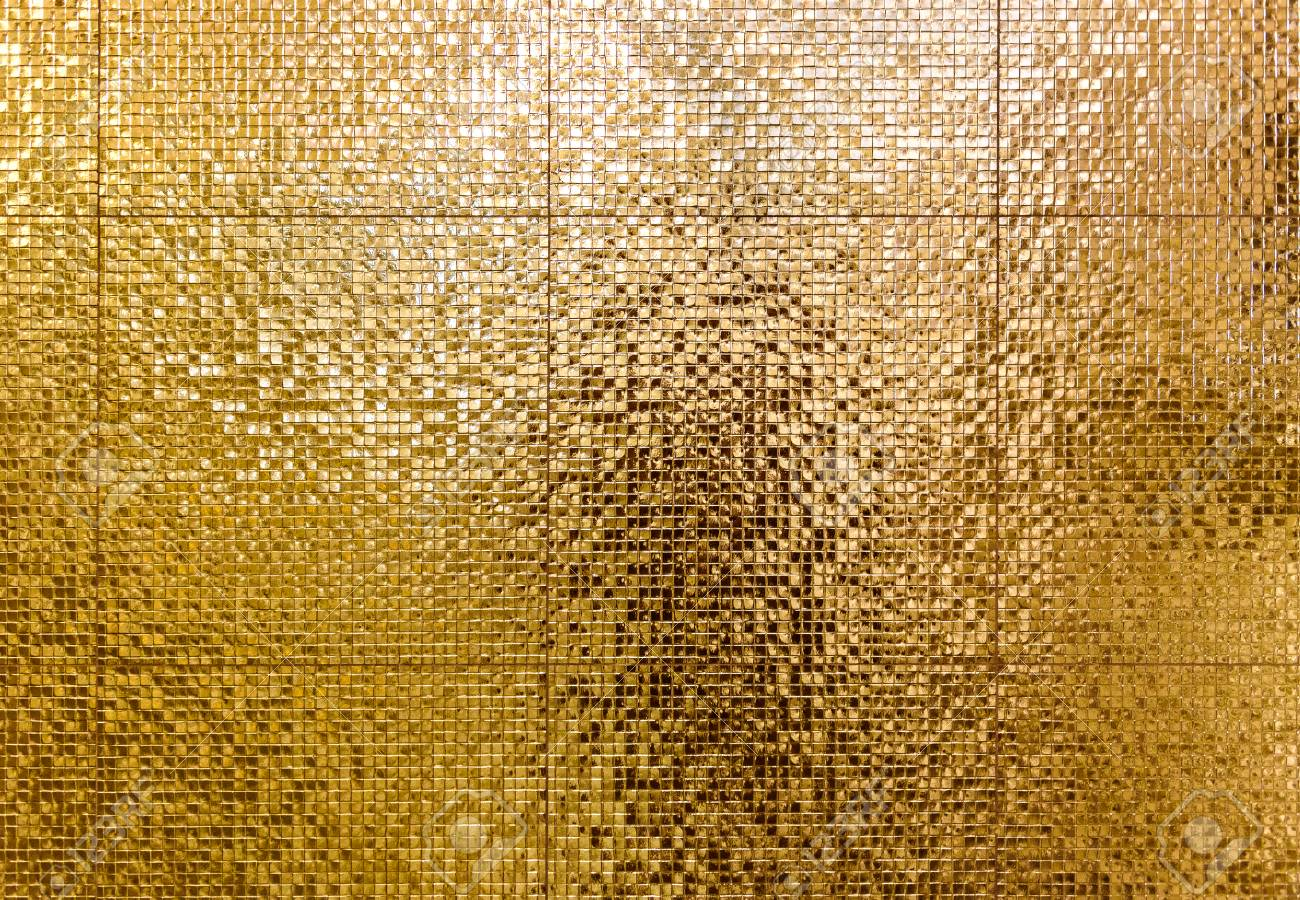 luxury gold mosaic tiles background for bathroom or toilette stock photo picture and royalty free image image 104617223