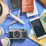 Travel And Vacation Concept Travel Accessories Top View Stock Photo Picture And Royalty Free Image Image 78521784