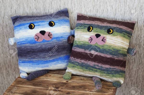 free cat cushion cover to knit # 50