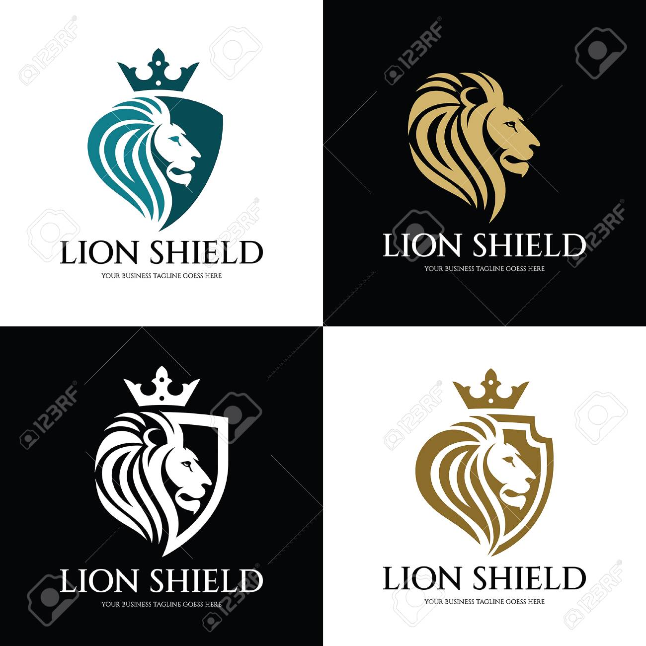 Lion Shield Logo Design Template Lion Head Logo Vector Illustration Royalty Free Cliparts Vectors And Stock Illustration Image 87886194