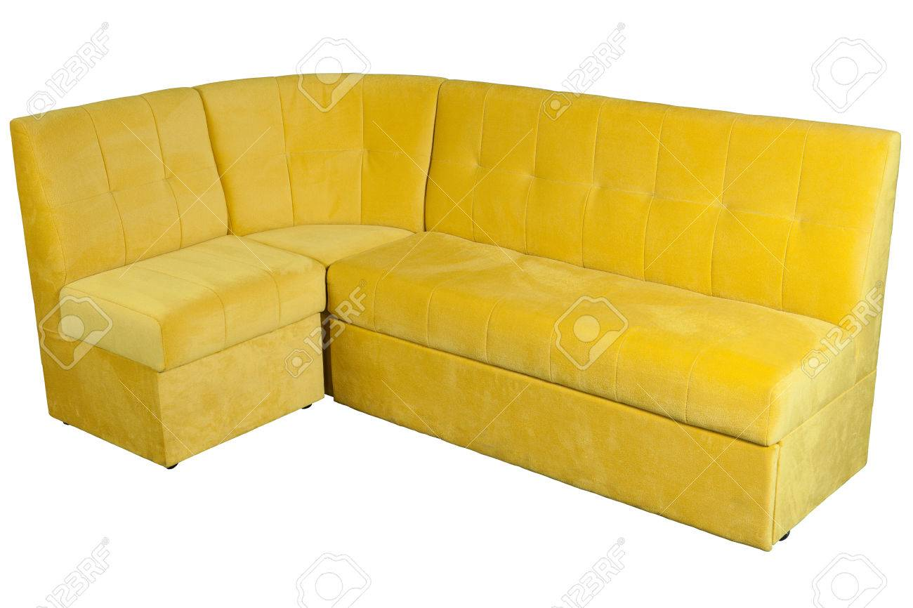 yellow fabric l shaped sofa corner sofa for dining room with stock photo picture and royalty free image image 69009728