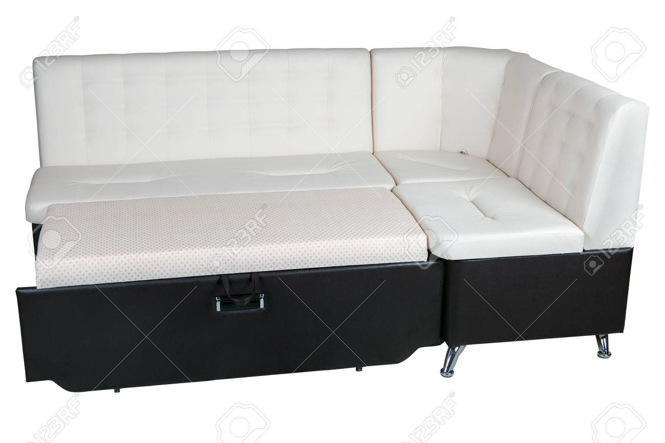Modern Corner Convertible Sofa Bed Leather Sleeper Brown And