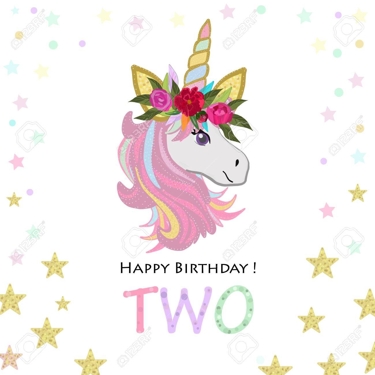 second birthday two unicorn birthday invitation party invitation