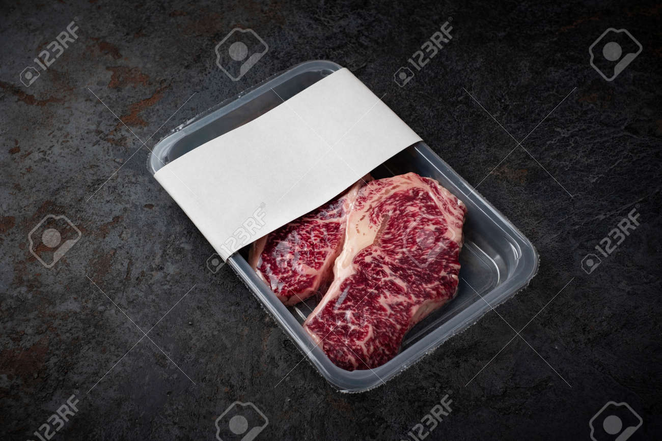 Iphone, ipad, macbook, imac, apple watch, packaging, billboards and signs, fashion and apparel, food & Raw Wagyu Marbled Beef Steak In Vacuum Packaging Logo Mockup For Design Stock Photo Picture And Royalty Free Image Image 157595283