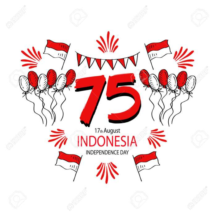 Happy Indonesia Independence Day 75 Years Greeting Card Royalty Free Cliparts Vectors And Stock Illustration Image 151397660