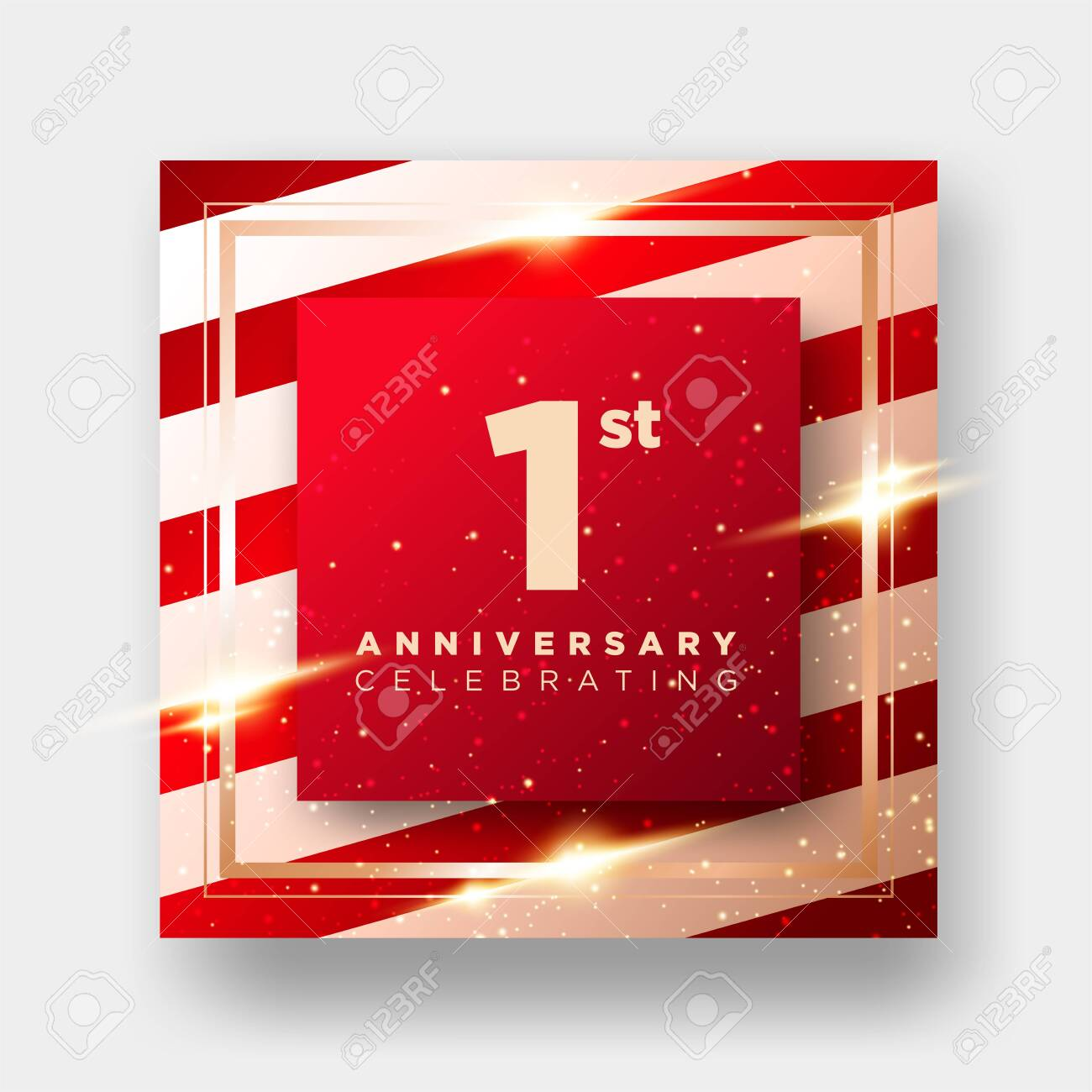 1 year anniversary celebration vector card 1st anniversary luxury