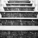Black And White Marble Stairs With Banisters Stock Photo Picture And Royalty Free Image Image 83913890