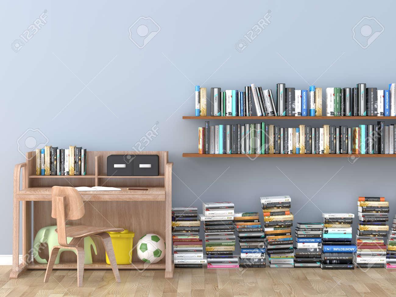 inter salle de bibliotheque chambre bibliotheque pour enfants image 3d