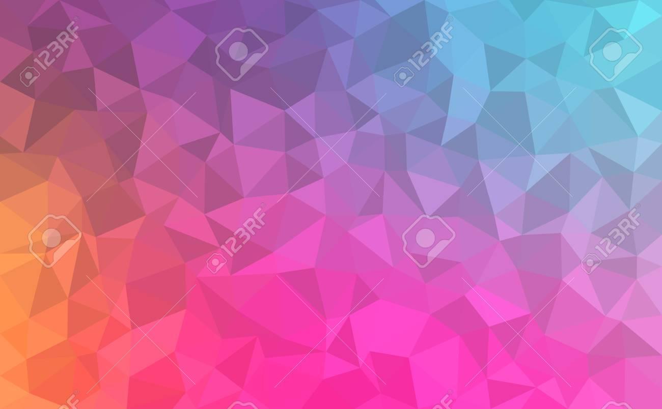abstrait formes geometriques colorees texture vecteur polygonale couleurs bleu violet rose orange