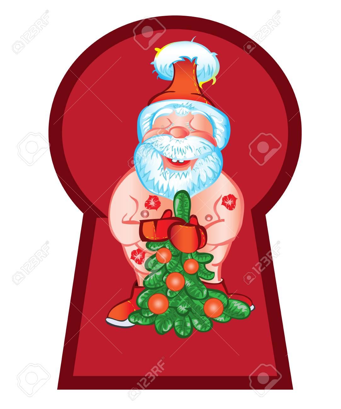 Il villaggio di babbo natale è aperto 365 giorni l'anno, infatti babbo. Vettoriale Babbo Natale E Venuto A Visitare Con Una Bella Tree Vector Natale Image 44331184