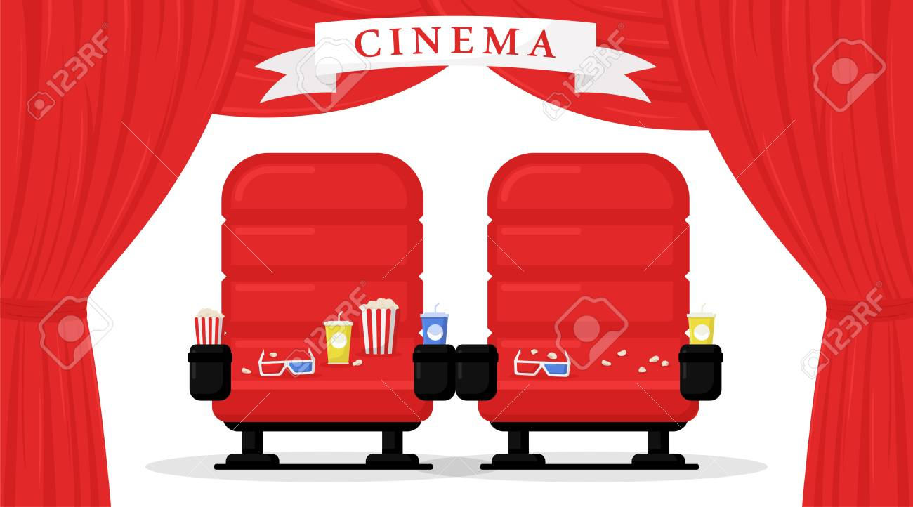 Cinema Seats Isolated On White Background Simple Modern Cartoon Royalty Free Cliparts Vectors And Stock Illustration Image 114297110