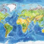 Watercolor Geographical Map Of The World Physical Map Of The Stock Photo Picture And Royalty Free Image Image 101104422
