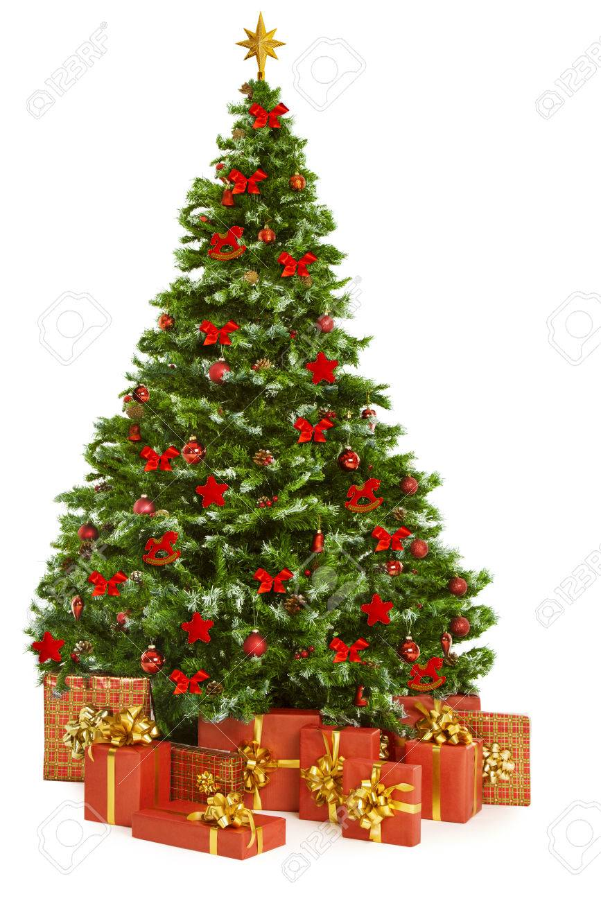 Christmas Tree And Presents Gifts Xmas Tree Decorated With Toys Stock Photo Picture And Royalty Free Image Image 47766720