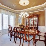 Beautiful Dining Room Interior In Luxury House Wooden Dining Stock Photo Picture And Royalty Free Image Image 29938647