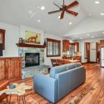 Open Floor Plan Design Of A Living Room With Vaulted Ceiling Stock Photo Picture And Royalty Free Image Image 108432655