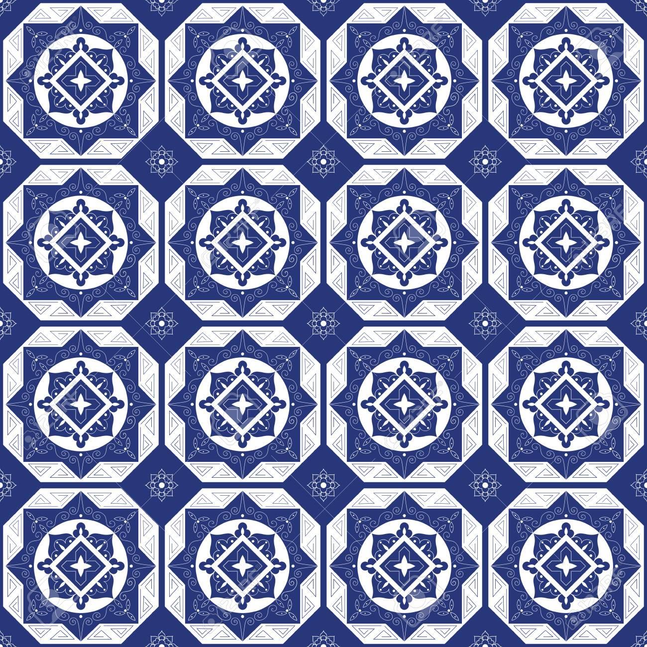 holland blue white porcelain tile floor mosaic tiled pattern