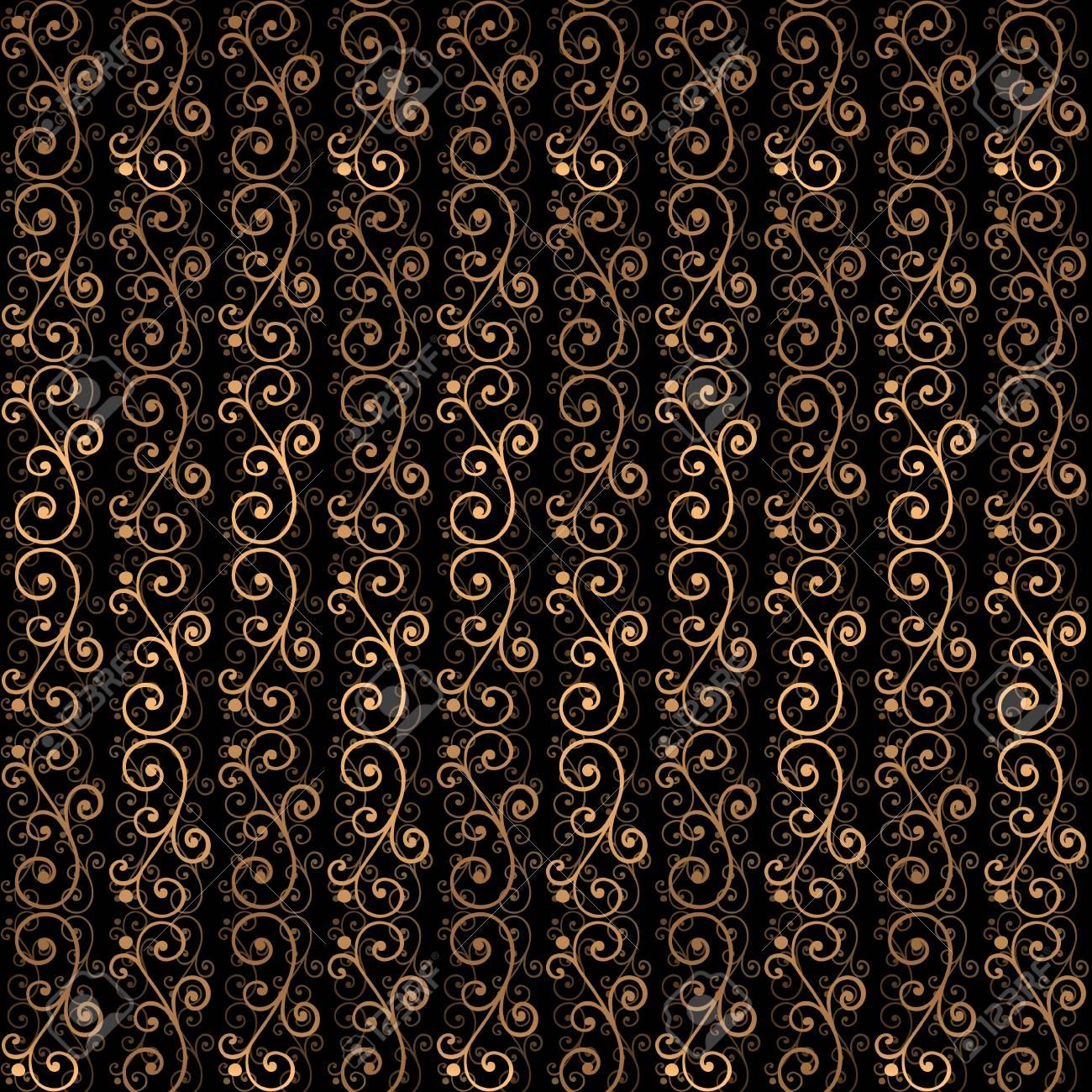 golden luxury background vector gold black victorian pattern