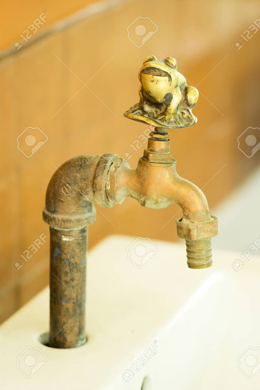 old style faucet brass frog