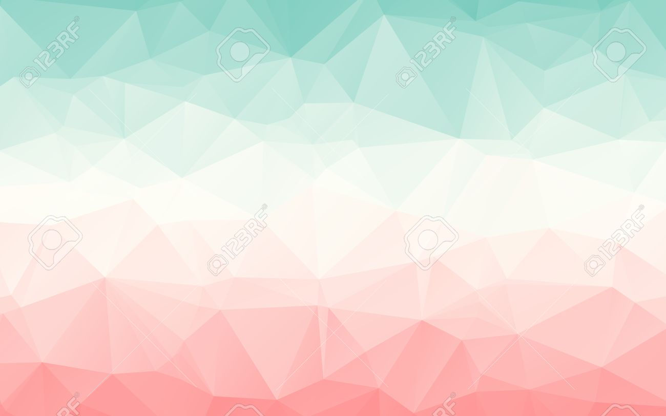 Gradient Turquoise Light Red Pink Vector Polygonal Abstract     Gradient turquoise light red pink vector polygonal abstract wallpaper Stock  Vector   45351223