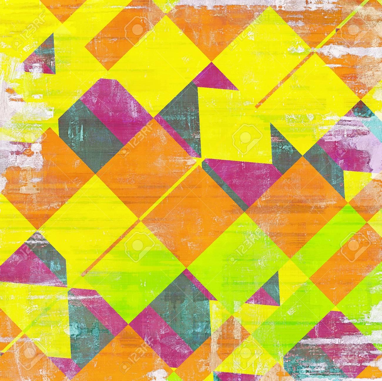 Vintage Fond Texture Avec Differents Modeles De Couleur Jaune Beige Rouge Orange Verte Pourpre Violet Banque D Images Et Photos Libres De Droits Image 46168484