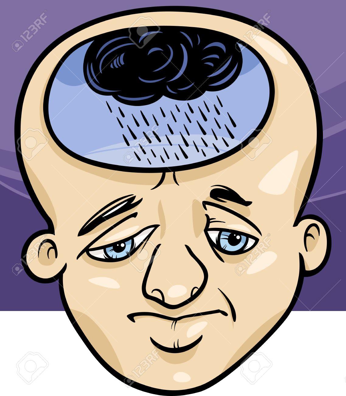 Image result for depression cartoon