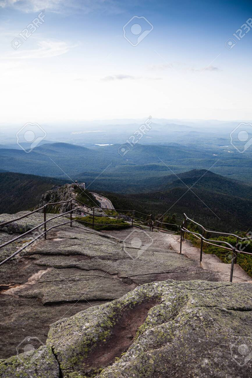 Hiking info, trail maps, and 256 trip reports from whiteface mountain (4865 ft) in the adirondack mountains of new york. Rocks And Adirondack Mountains View From Top Of Whiteface Mountain New York State Usa Stock Photo Picture And Royalty Free Image Image 145005990