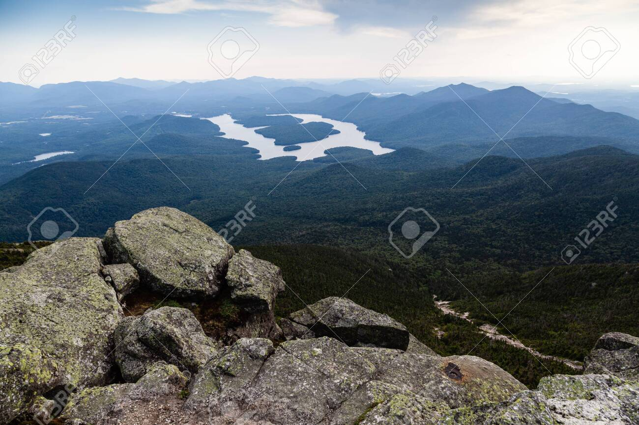 Whiteface mountain, site of the 1980 winter olympics skiing events, offers the greatest vertical drop of all eastern ski areas at 3,430 feet. Rocks And Adirondack Mountains View From Top Of Whiteface Mountain New York State Usa Stock Photo Picture And Royalty Free Image Image 145331599