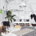 Attic Interior Design Idea With Hammock Scandinavian Boho Style Stock Photo Picture And Royalty Free Image Image 105338391