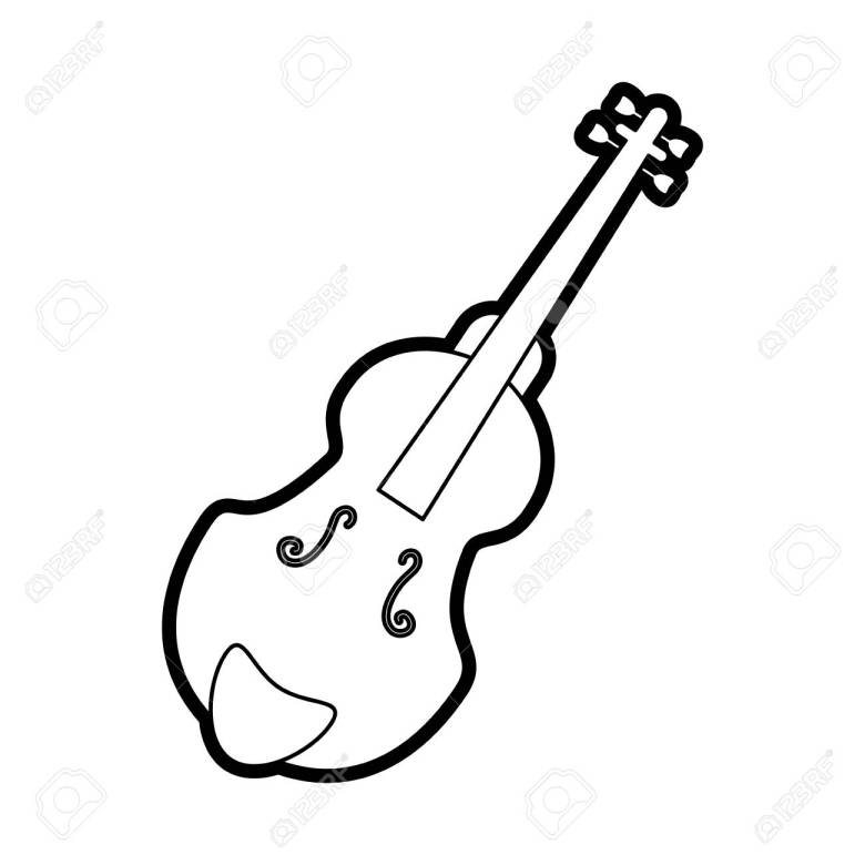 musical instruments orchestra draw vector illustration design