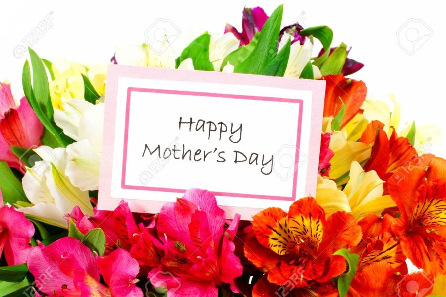 Happy Mothers Day Tag Among A Bouquet Of Flowers Stock Photo     Happy Mothers Day tag among a bouquet of flowers Stock Photo   18880290