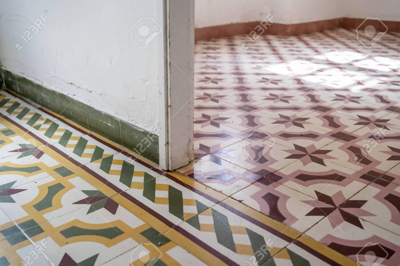 retro old vintage floor tiles portuguese house marocain style