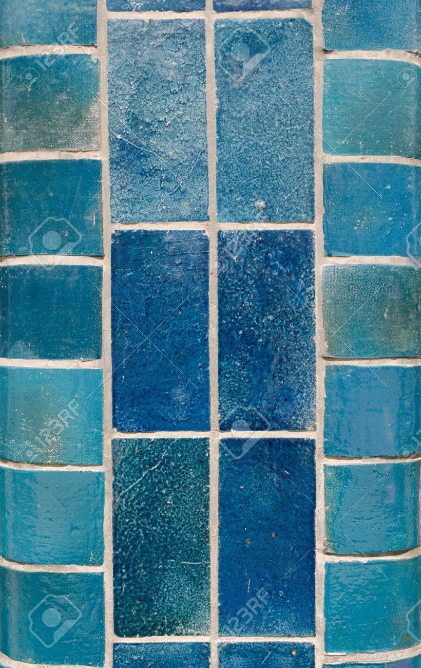 https www 123rf com photo 81639020 blue ceramic tiles on a column in different shades including aqua turquoise light and dark html