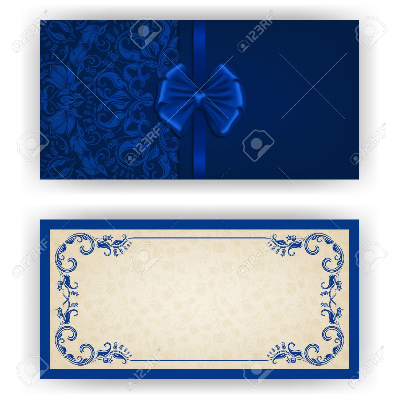 elegant template luxury invitation card with lace ornament
