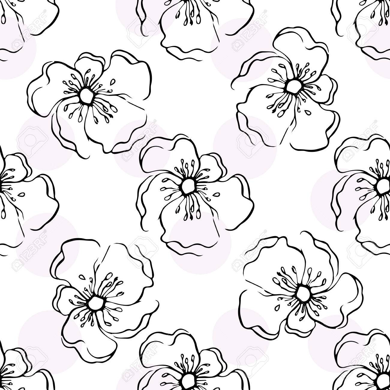 Repeating Modern Floral Background Pattern Seamless Floral Wallpaper Royalty Free Cliparts Vectors And Stock Illustration Image 58324300