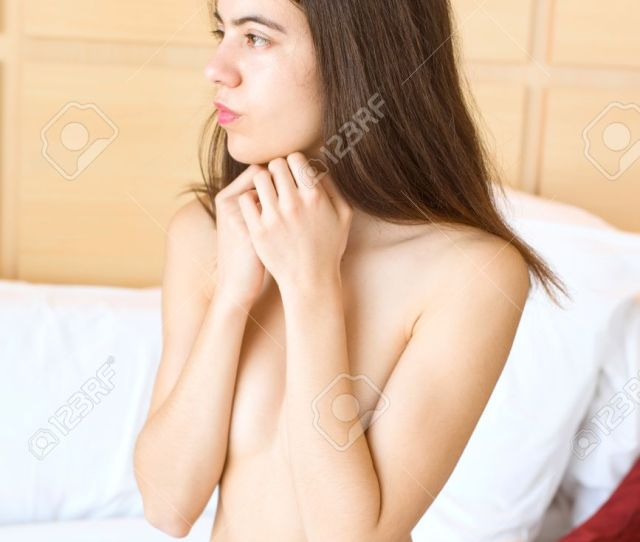 Half Naked Teenager Lying On Her Bed In Her Bedroom Stock Photo 66253972