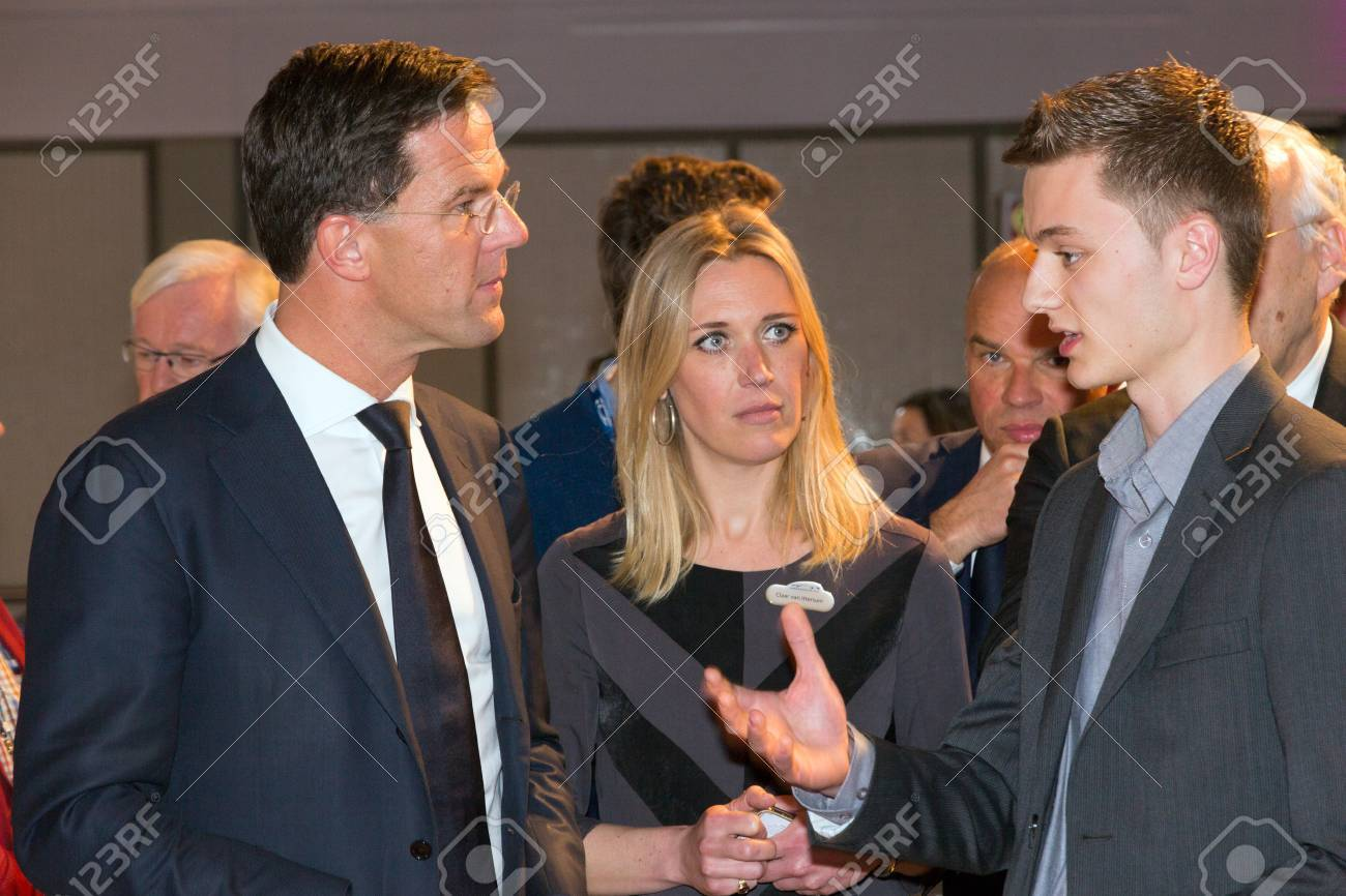 amsterdam april 16 2015 dutch prime minister mark rutte listening stock photo picture and royalty free image image 38895602
