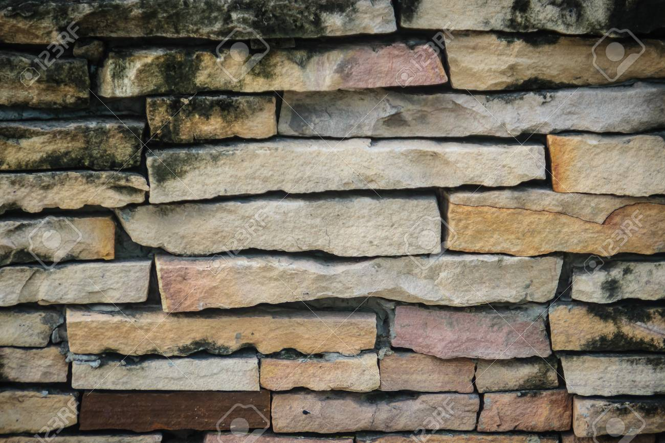 Beautiful Pattern Of Old Decorative Stone Wall Background Vintage