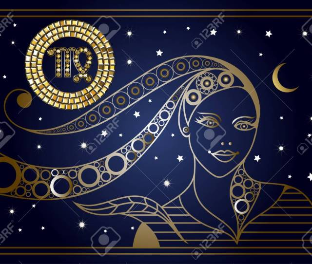 Decorative Zodiac Sign Virgo Horoscope And Astrology Astronomy Symbol Suitable For