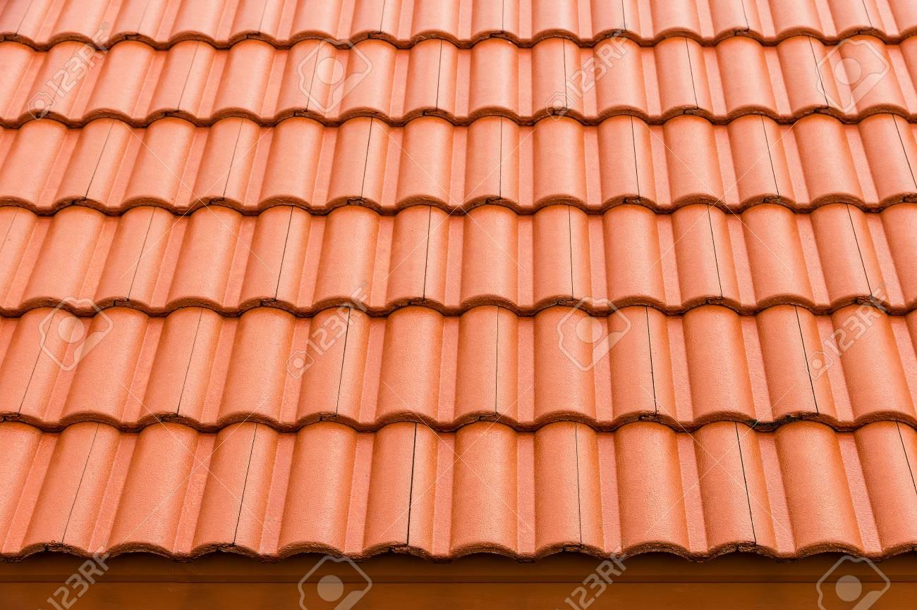 home building construction roof tiles concrete orange color
