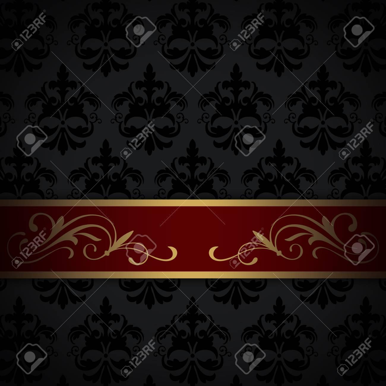 https fr 123rf com photo 54652253 fond noir vintage avec or et bordure rouge et des anciens sch c3 a9mas html