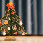 Painted Wooden Christmas Tree With Blue Background And Copy Space Stock Photo Picture And Royalty Free Image Image 90099362