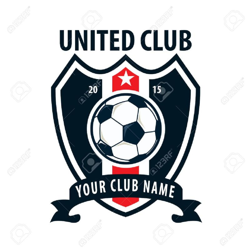 Football team logos footballupdate football badge logo template design soccer team vector illuatration maxwellsz