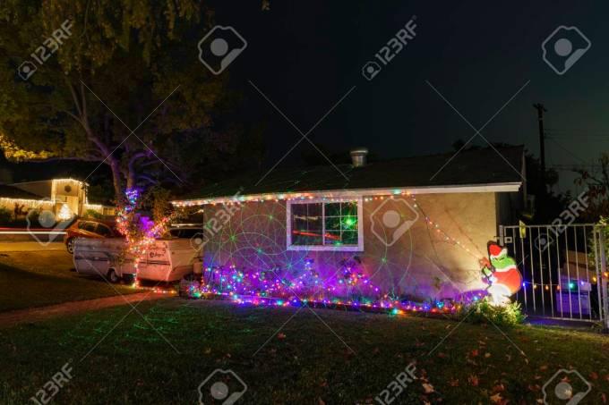 los angeles dec 15 beautiful christmas lights in upper hastings