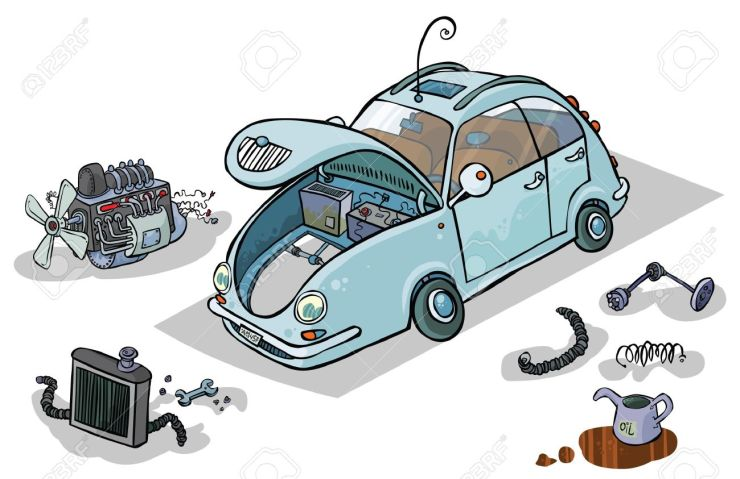Image result for cartoon car and parts