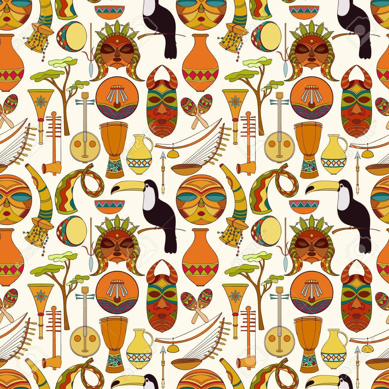 main dessine modele africain sans soudure vector illustration peut etre utilise pour le papier peint fond site papier d emballage elements