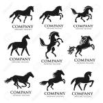 Set Of Horse Logo Design Icon Symbol Horse Vector Horse Silhouette Royalty Free Cliparts Vectors And Stock Illustration Image 138772627