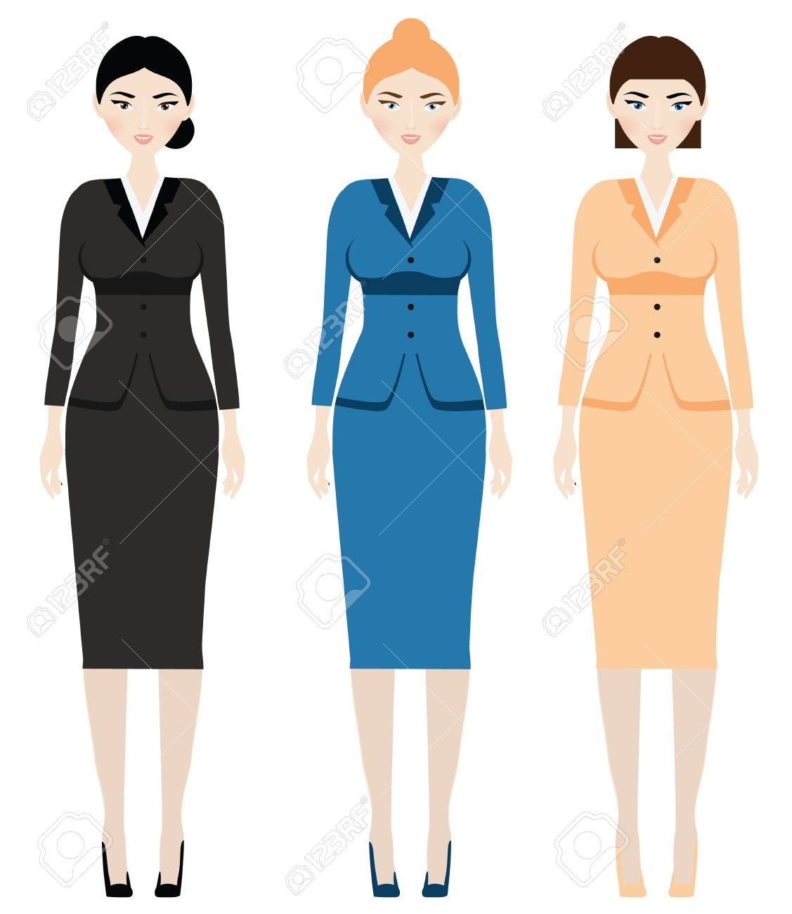 banque d images code vestimentaire femme femme en tenue d affaires vetements de bureau costume lassique avec jupes pour femme