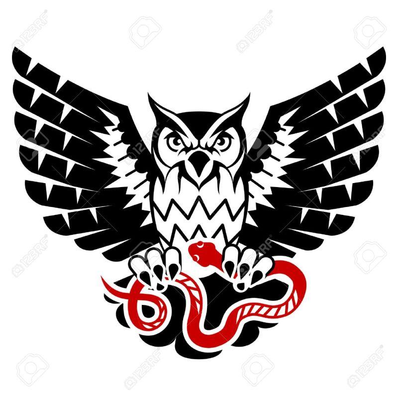 7379905de Serene Owl Black Eagle Owl Black Eagle Tattoo Charleston Wv Black ...